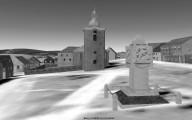 od pomniku ke kostelu